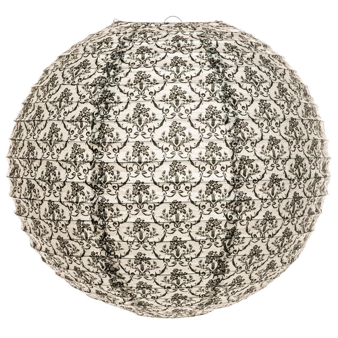 runder lampion moon 40cm lampenschirm aus papier. Black Bedroom Furniture Sets. Home Design Ideas